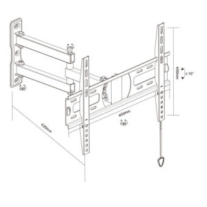 Double Arm Wall Mount full-motion