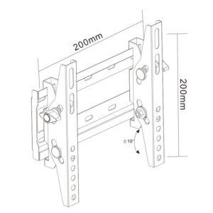 Universal Flat Screen TV Wall Mount Tilted for 14''-42''- DB009